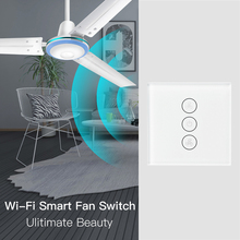 WiFi Smart Ceiling Fan Switch APP Remote Timer and Speed Control Compatible with Alexa and Google Home No Hub Required US EU