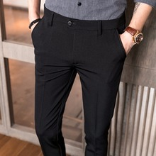 mens dress pants  Summer New Korean slim Fit elastic fabrics Business casual Pants Male high-grade Formal suit