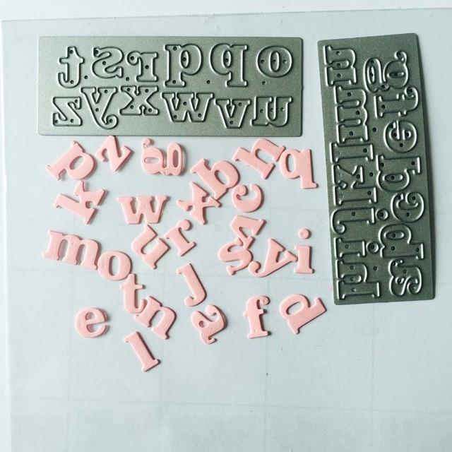 Lower case alphabats thin metal die scrapbooking die sm990010 thinlits die