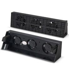 JRGK PS4 тонкий охлаждающий вентилятор консоль кулер умный термостат 3 Вентиляторы системная станция для sony Playstation 4 PS4 Slim