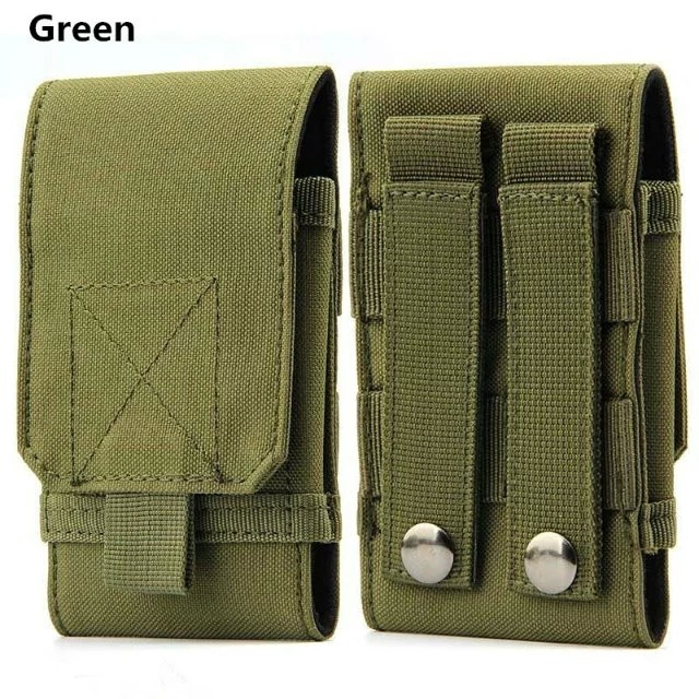 Mobile phone waist bag Army Camo Hook Loop Belt Pouch Holster Cover Case Blackview BV7000 Pro