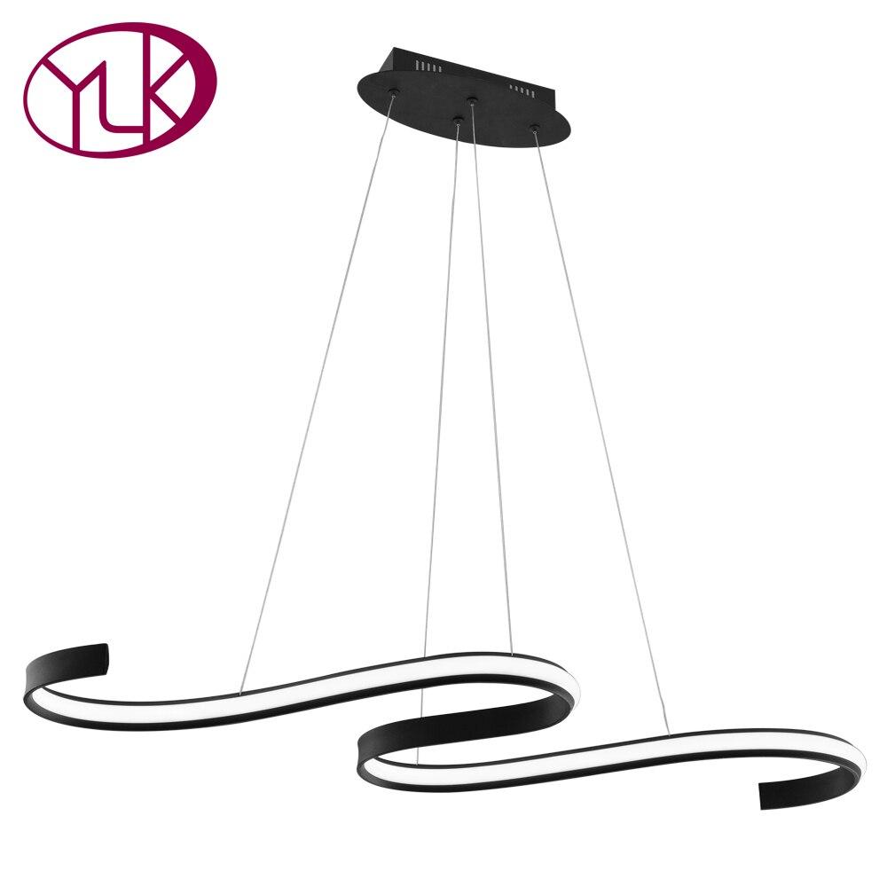 Здесь продается  Youlaike Creative Design Black Pendant Light Modern LED Aluminum Hanging Lamp Kitchen Island Decoration Lighting  Свет и освещение