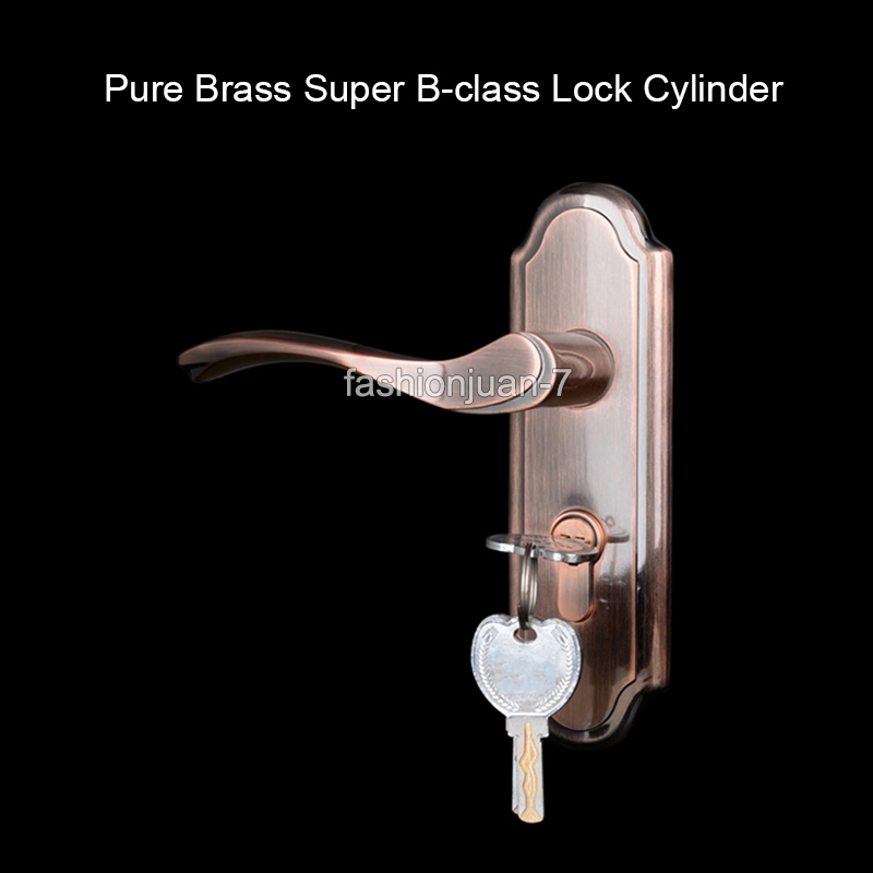 ФОТО High Quality Door Handle Full Set Brass Cylinder Privacy Door Interior Security Entry Lever Mortise Handle Locks