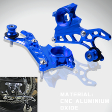 Motorcycle Left & Right CNC Rear Wheel Axle Stand Pick Up Hook Set For 2014-2017 Yamaha FZ MT 07 FZ07 MT07 FZ-07 MT-07 2015 2016 waase cnc adjustable rider rear sets rearset footrest foot rest pegs for yamaha mt 07 mt07 fz 07 fz07 2013 2014 2015 2016 2017