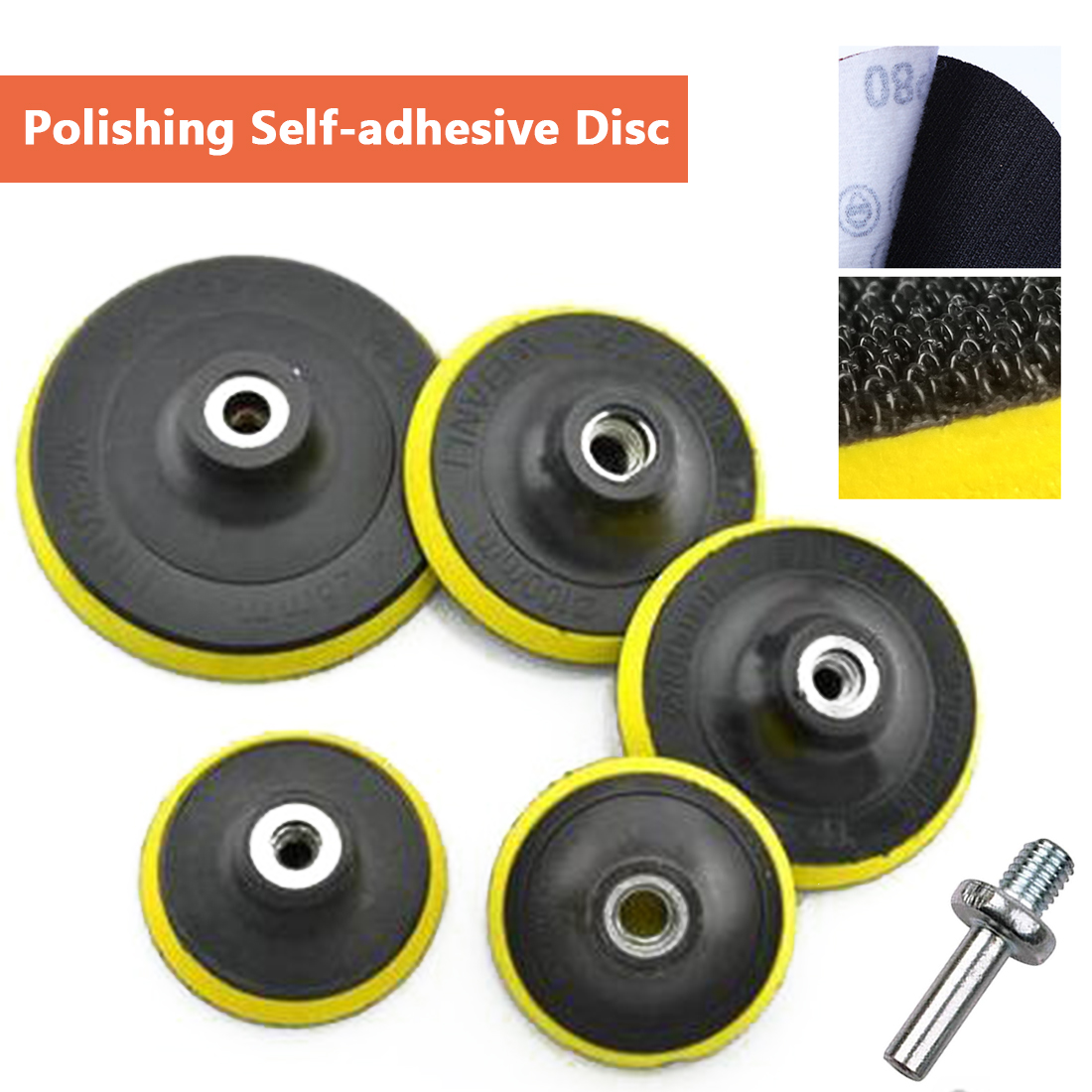 "Self-adhesive Polishing Pad 3""/4""/5""/6""/7"" Sandpaper Sucker Polishing Disc For Electric Grinder Polisher Tools"