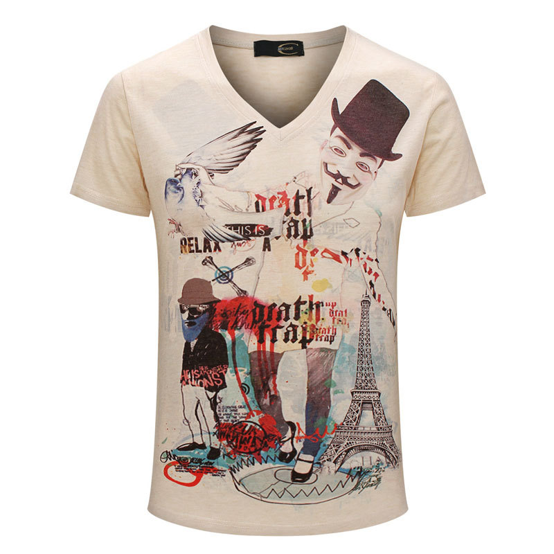 Online Get Cheap V Neck Mens T Shirts Fashion 2015 -Aliexpress.com ...