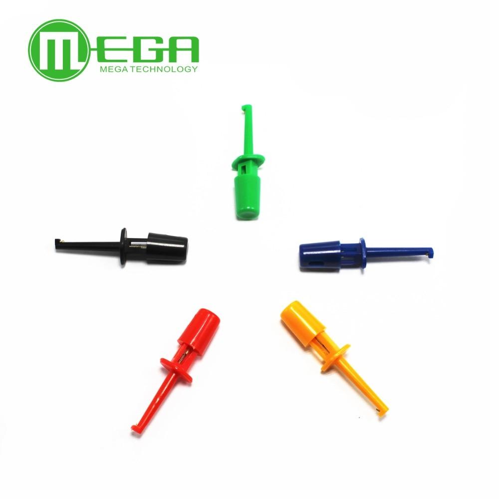 10PCS 1.7'' Multimeter Lead Wire Kit Test Hook Clip Grabbers Test Probe SMT / SMD IC D20 Cable Welding
