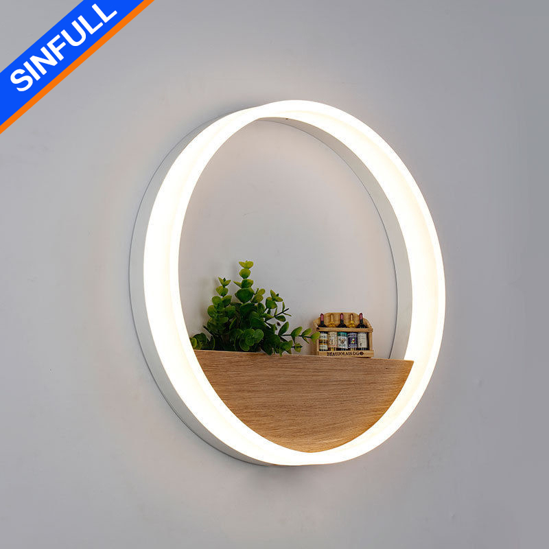 SINFULL ART Modern Creative Wall Lamps Home Decor Ring LED Wall Light Bedside New Design Sconces Stair Pathway Lighting Fixtures 2 lights modern creative metal wall light simple glass shade wall sconces fixtures lighting for hallway bedroom bedside wl282 2