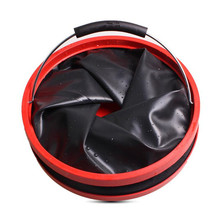 12L Thickened Oxford Folding Water Bucket Outdoor Travel Camping Fishing Bucket Large Capacity Vehicle Cleaning Bucket