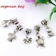 Hot ! 15 pcs Antique silver Mix Cute Animal Dangle Beads Fit Charm Bracelets DIY Jewelry (nm219) цена и фото