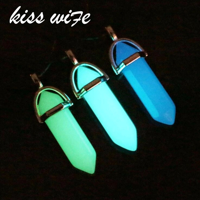 Kiss wife fluorescent necklace fluorescent hexagonal pendant kiss wife fluorescent necklace fluorescent hexagonal pendant necklace natural crystal stone purple stone pendant leather chain aloadofball Gallery