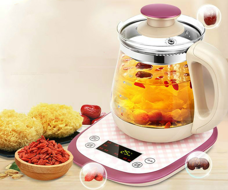 Full automatic thickened glass multi-purpose tea pot boiling pot black Overheat Protection
