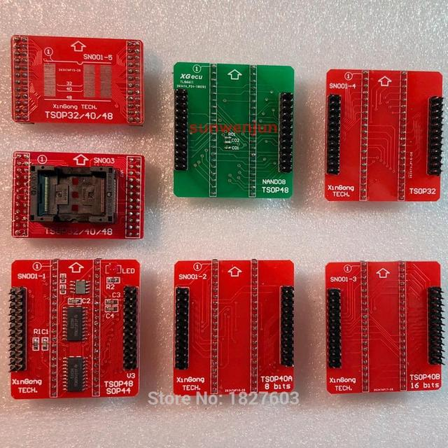 オリジナル SN001 + NAND アダプタ TSOP32 TSOP40 SOP44 TSOP48 ZIF アダプタキットのみ MiniPro TL866II プラス TL866A TL866CS プログラマ