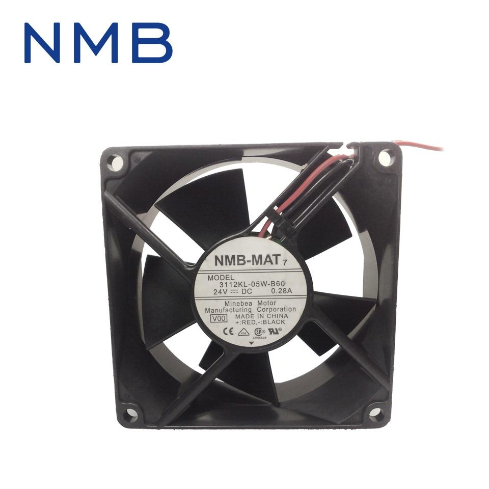 New 8032 8CM 24V 0.28A dual ball bearing fan drive 3112KL-05W-B60 for NMB 80*80*32mm original delta afb0912shf 9032 9cm 12v 0 90a dual ball bearing cooling fan