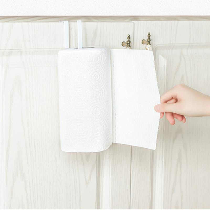 Soportes de papel de cocina, estante adhesivo, soportes de rollo de hierro para baño, inodoro, toalla, ganchos para estantes, almacenamiento en casa, organizador de estantería de papel