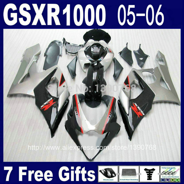 Free 7 gifts fairing kit for Injection mold SUZUKI 2005 2006 GSXR 1000 05 06 K5 K6 GSX-R1000 matte black fairings set RT66 free customize mold fairing kit for suzuki gsx 600f 750f 95 96 97 05 red black fairings set gsx600f 1995 1996 2005 lm41