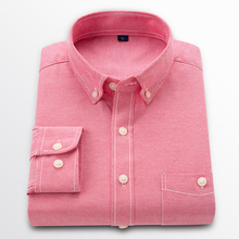 Shirt Mens Long Sleeve Oxford Cloth Cotton Large Size 5XL Fashion Casual Shirt/Comfortable Cool