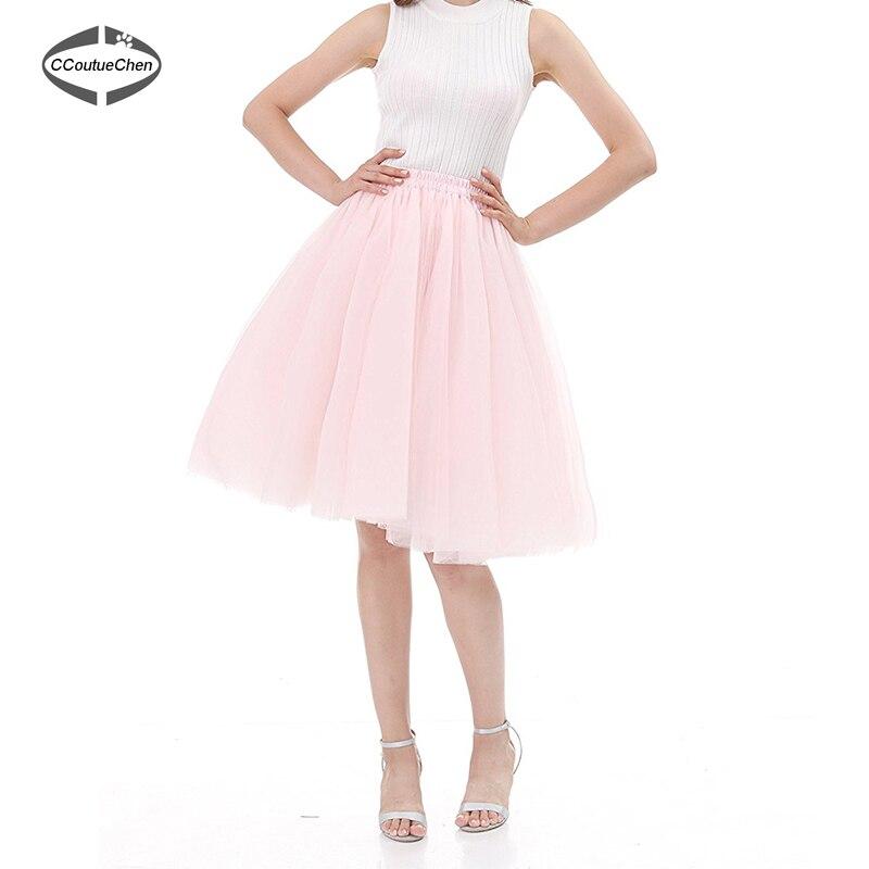 ed18197dfecf Φούστα Vintage Tulle Κομψά φούστες Tutu 5 στρώματα 65cm Γυναικεία ...