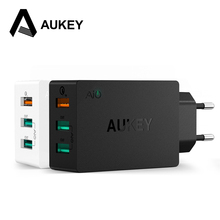 AUKEY Wall Charger 3 Port USB 2.0 Quick Charge Smart Fast Turbo Mobile Charger EU/US plug For Samsung Galaxy s6 Edge Xiaomi