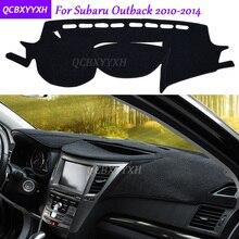 Для Subaru Outback 2010-2014 коврик для приборной панели защитный интерьер Photophobism накладка тенты Подушка автомобиля Стайлинг авто аксессуары