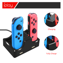 LED Dual USB Charging Dock Stand Station for Nintend Switch Gamepad Joy Con NS Controllers Charger Holder Dropship Wholesale