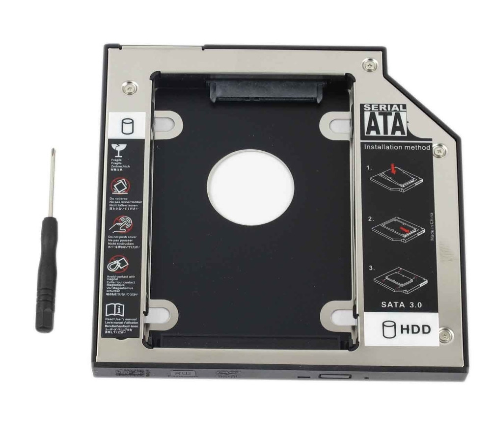 WZSM NEW 12.7mm SATA 2nd SSD HDD Caddy for <font><b>Acer</b></font> Aspire 4630 4710 4733 7738 <font><b>7750zg</b></font> 4736 4736z 4736zg Hard Disk Drive Caddy image