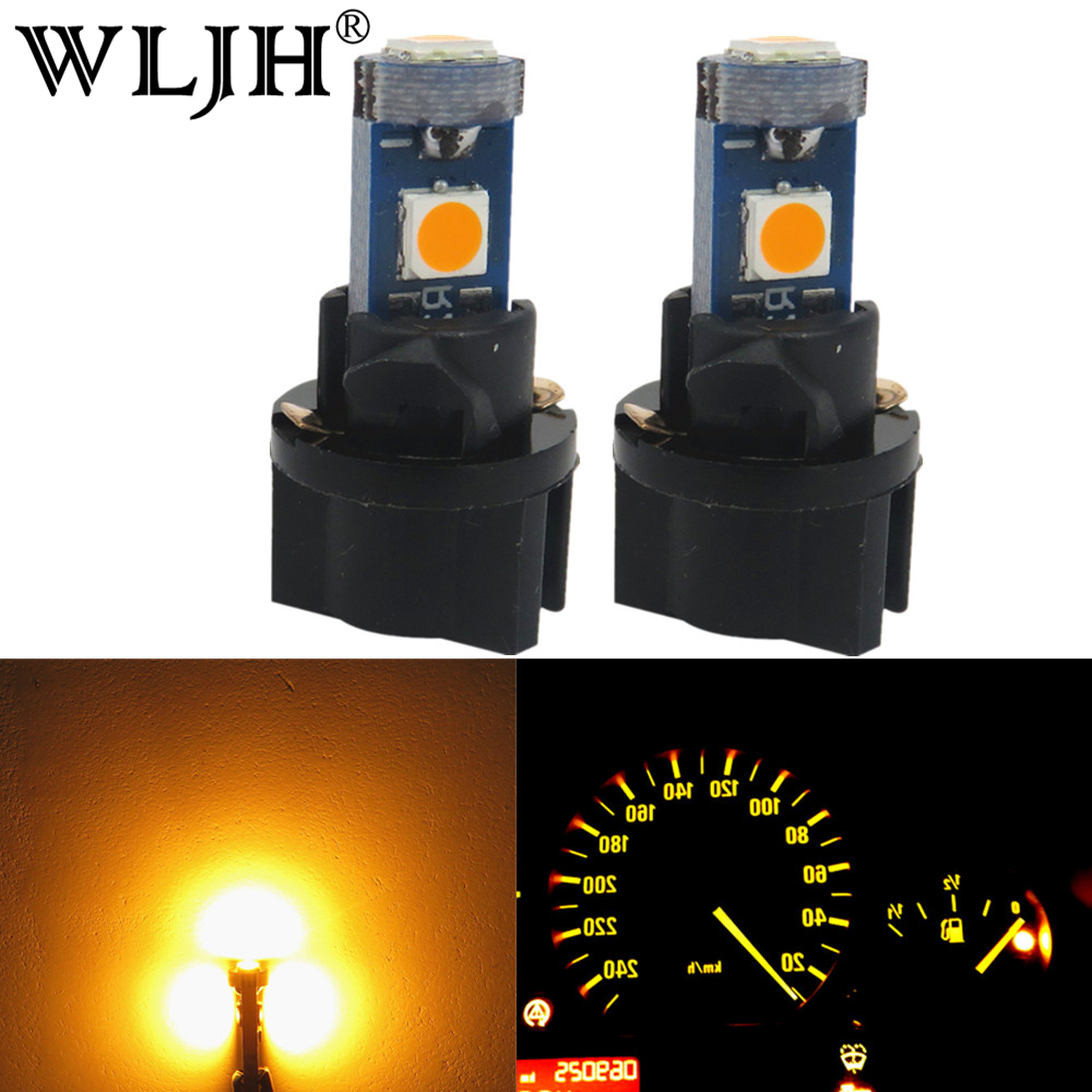 WLJH 10x Canbus T5 LED Wedge Car Gauge Instrument Panel Dashboard Speedo Dash LED Cluster Light Bulb For Saab For Volvo For Kia wljh t5 led 7 color car led light 74 73 286 car dash dashboard led instrument panel light bulb for bmw e36 e34 e32 e38 e31 m3 z3