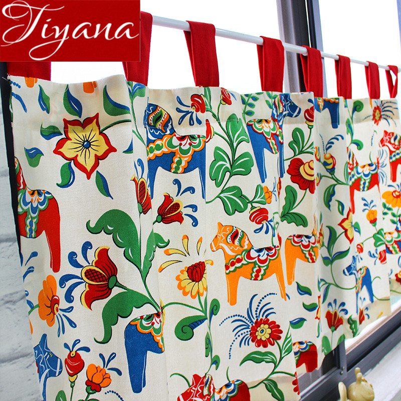 Short Curtains For Kitchen Cabinet Window Living Room Prints Drapes Door  Rustic Curtians Divider Home Decoration
