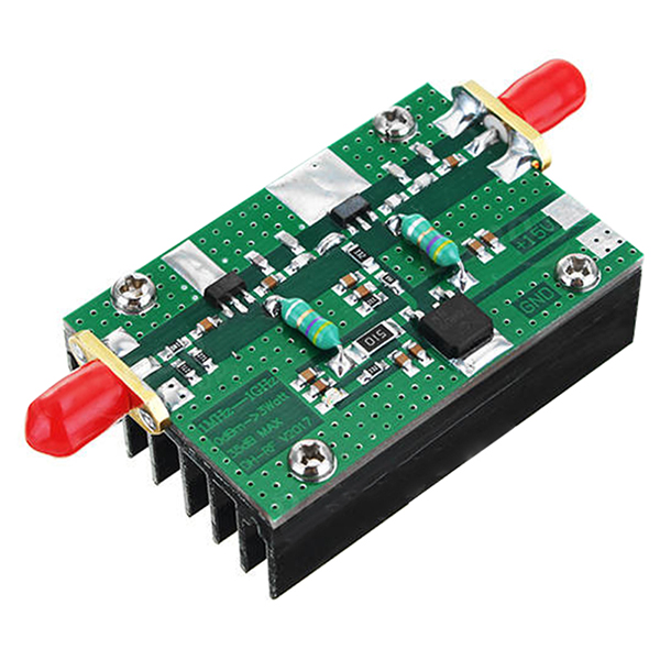 1MHz-1000MHZ 35DB 3W HF VHF UHF FM Transmitter Broadband RF Power Amplifier For Ham Radio aiyima 42db 1mhz 800mhz 433mhz rf uvf linear power amplifier hf fm