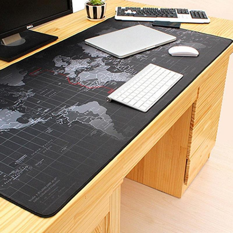 80*30cm 70*30cm Mouse Pad World Map Mousepad Anti-slip Natural Rubber Gaming Mouse Mat With Locking Edge For Office/Game/Desktop