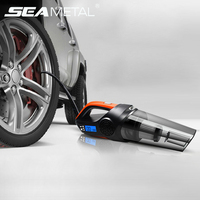 12V Car Vacuum Cleaner Auto Air Compressors Inflatable Pump Compressore Auto Universal Mini Tire Inflator Cars Cleaner Vacuum