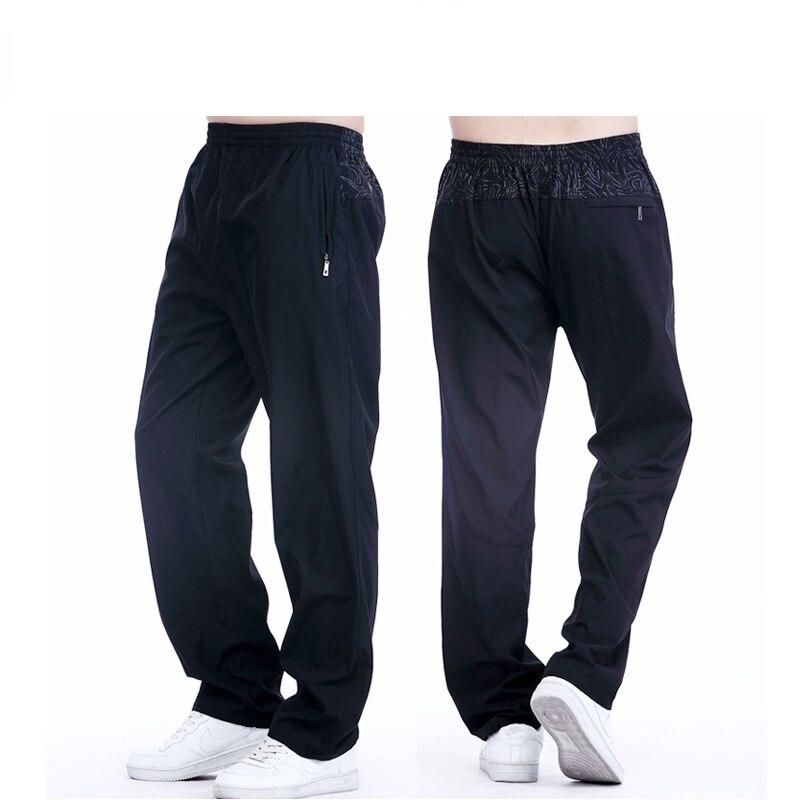 7d7f6e1a982 ... Elastic Waist Men Active Pants Outside Physical Trousers Plus Size  3XL