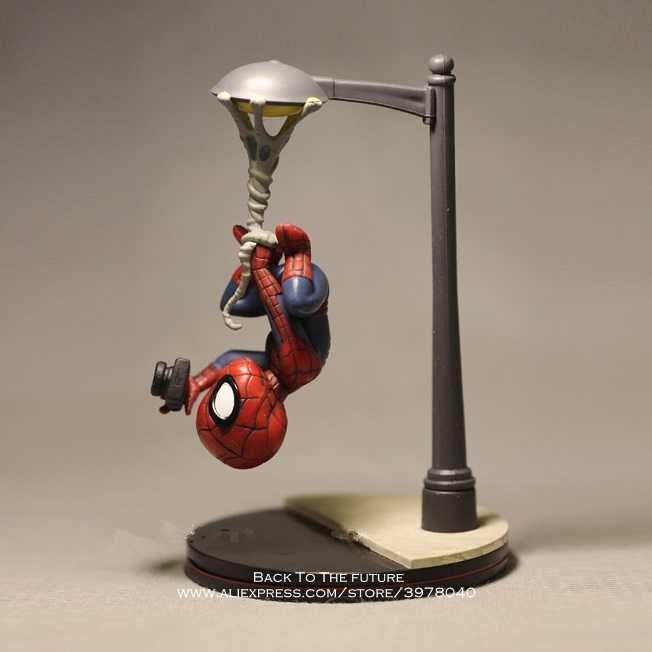 Disney Marvel Avengers 14cm Spider Man take photo Action Figure Model Anime Mini Doll Decoration Collection Figurine Toys model