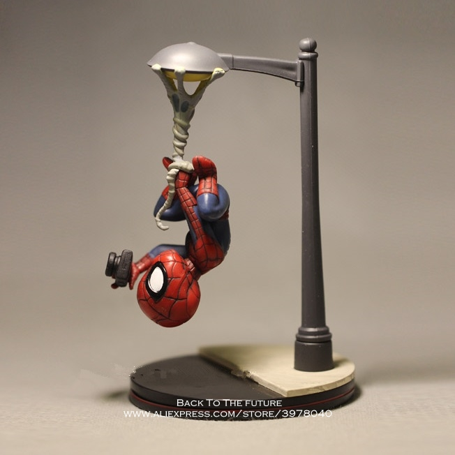 Disney Marvel Avengers 14cm Spider Man take photo Action Figure Model Anime Mini Doll Decoration Collection Figurine Toys model цена