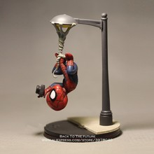 Disney Marvel Avengers 14cm Spider Man take photo Action Figure Model Anime Mini Doll Decoration Collection Figurine Toys model(China)