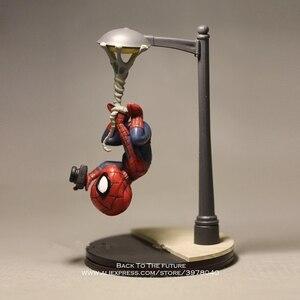 Image 1 - Disney Marvel Avengers 14cm Spider Man take photo Action Figure Model Anime Mini Doll Decoration Collection Figurine Toys model