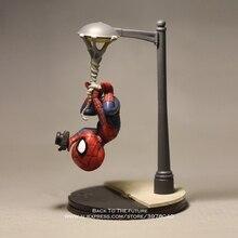 Disney Marvel Avengers 14cm örümcek adam fotoğraf eylem şekilli kalıp Anime Mini bebek dekorasyon koleksiyonu heykelcik oyuncak modeli