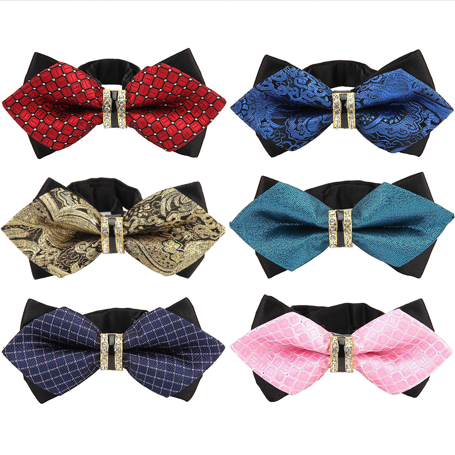 New Bowtie Groom Mens Colourful Plaid Cravat Gravata Fashion Male Butterfly Wedding Luxurious Bow Ties For Men Gift Accessories