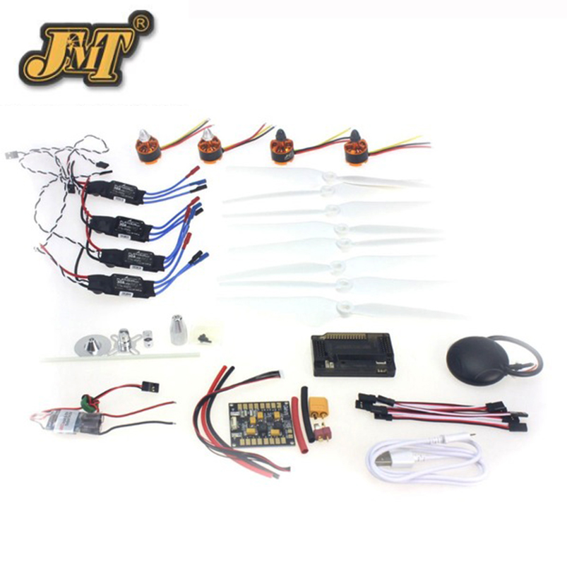 JMT 920KV Brushless Motor 30A ESC BEC Self-locking Propeller GPS APM2.8 Flight Control for 4-axis DIY GPS Drone 30a esc welding plug brushless electric speed control 4v 16v voltage