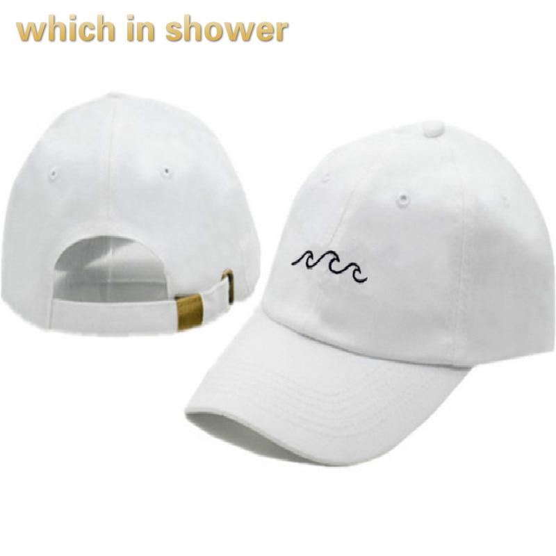 852d4d1cfa21f wave dad hat for women cotton embroidery wavy line baseball cap men hip hop  cap snapback hat sea sports cap bone drop shipping