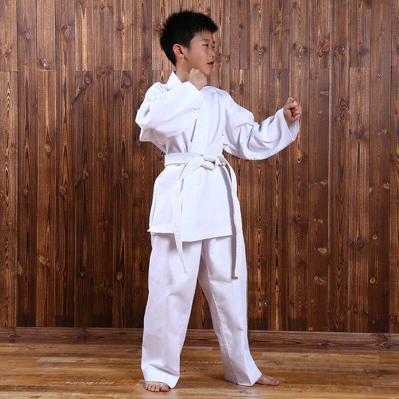 Карате равномерное спортивный костюм карате производительность дышащий кунг-фу Костюмы тхэквондо детей до взрослых добок оборудования с д...