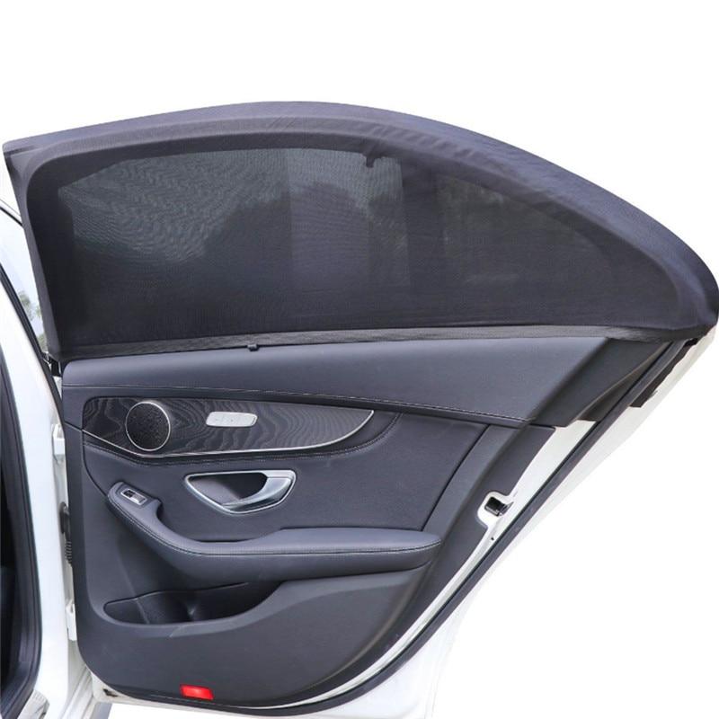 2pcs Detachable Car Side Window Curtain Sunshade UV Shield Auto Cars Curtains Flexible Car Covers Car Styling Accessories