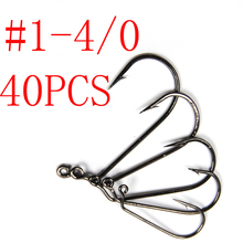 [40pcs/Set ] #1~4/0 High Carbon Steel 60 Degree Jig Hook Combo Kit Fishhooks Pesca Jig Fishing Hooks with Fishing Tackle Box