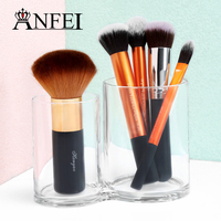 Double Clear Acrylic Cylinder Cosmetic Holder Women Makeup Tools Storage Box New Design Eyebrow Pencil Organizer