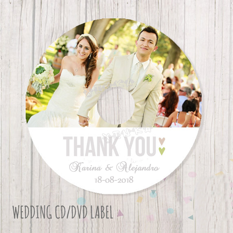 It is a picture of Magic Personalised Cd Labels Wedding