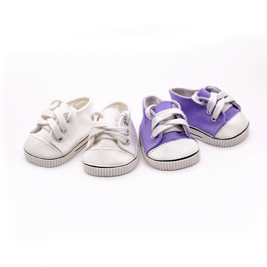 2 Colors Cute Doll Shoes For 18 Inch Baby Born Doll Fashion Handmade Sneakers American Girl