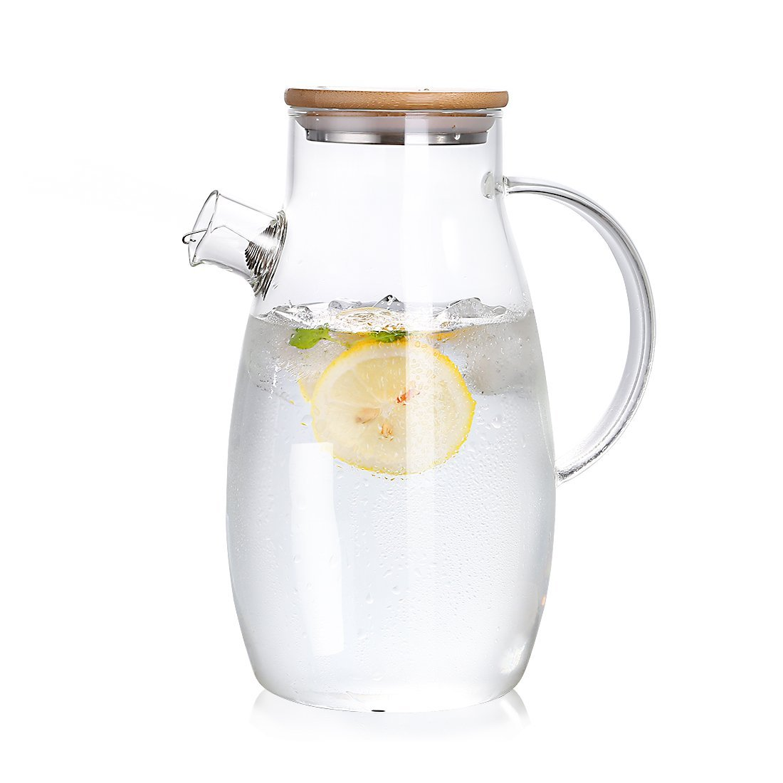 Heat Proof Pitcher 1800ml 60oz Heat Resistant Glass Pitcher Jar Teapot With