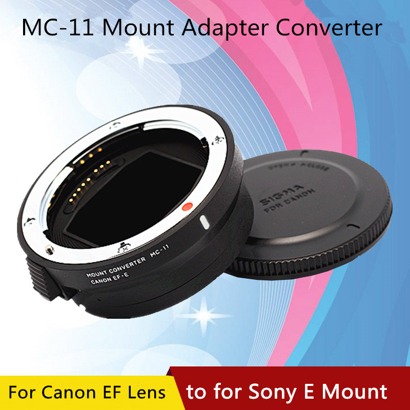 US $252 36 12% OFF|Genuine Sigma MC 11 MC11 Lens Adapter Converter for  Canon EOS EF lens to Sony E mount Camera A9 A7 R-in Camera Lens from  Consumer