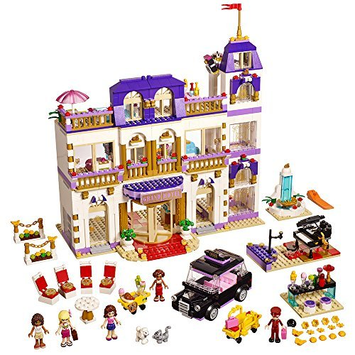 Lepin 01045 Girls Series The Heartlake Grand Hotel Model set Building Blocks Bricks Eucational toys for girls Gift 41101 magnetic wood pattern stand smart pu leather cover for samsung galaxy tab a a6 t580 t585 10 1 tablet funda case free film pen
