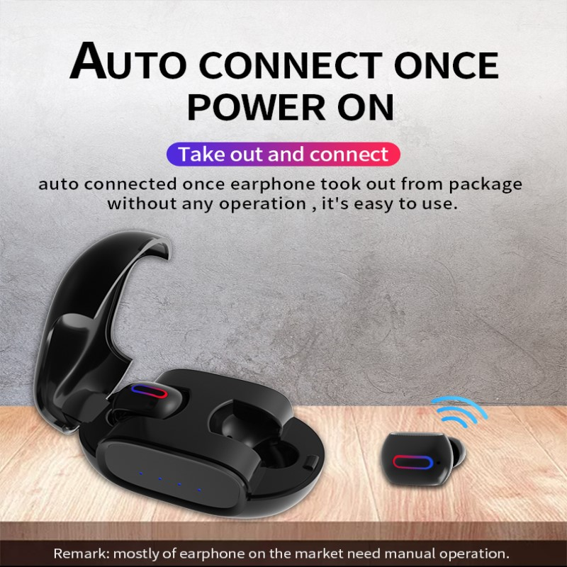Mini Wireless Earphone TWS Bluetooth Headset 5 0 Binaural High Sound Quality Call Sport Game Earphones Noise Reduction With Mic in Bluetooth Earphones Headphones from Consumer Electronics